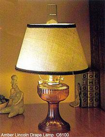 Amber Lincoln Drape Lamp